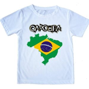 "Printed Capoeira T-Shirt - ""Map of Brazil"" - Unisex - ZumZum Capoeira Shop"