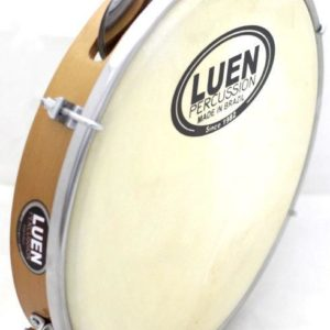 "Professional Pine Wood & Leather 10"" Pandeiro by LUEN - ZumZum Capoeira Shop"