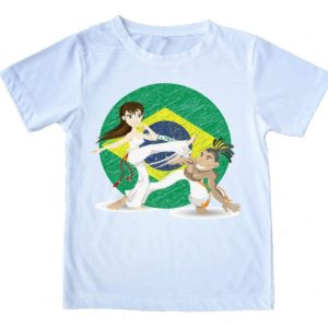 "Printed Capoeira T-Shirt - ""Brazilian Capoeira"" - 100% Cotton - Kids & Adults - ZumZum Capoeira Shop"