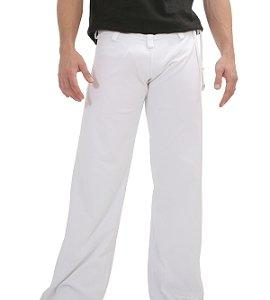 White Capoeira Pants/Abadas/Trousers for Adults - ZumZum Capoeira Shop