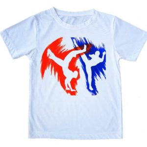 "Printed Capoeira T-Shirt - ""Lutadores"" - Unisex - Kids and Adults - 100% Cotton - ZumZum Capoeira Shop"