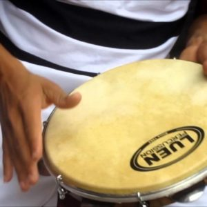 "Professional Tunable Walnut Wood & Leather 10"" Pandeiro by LUEN - ZumZum Capoeira Shop"